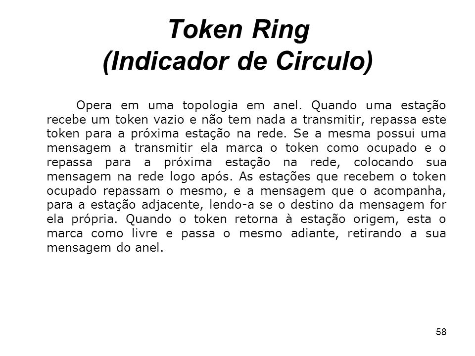 Token Ring (Indicador de Circulo)