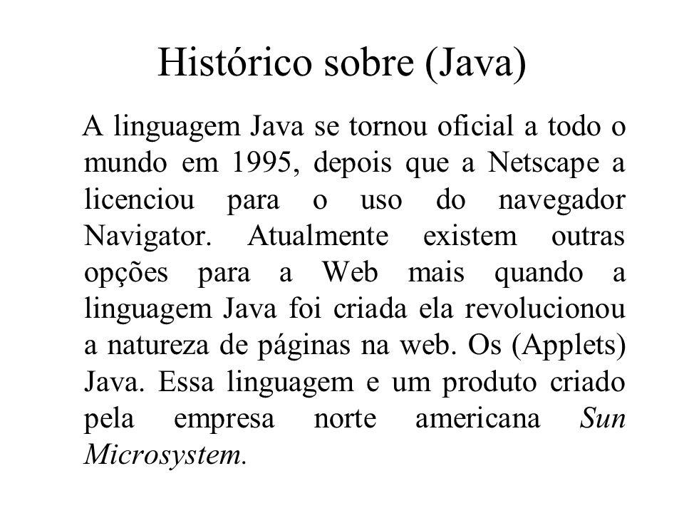 Histórico sobre (Java)