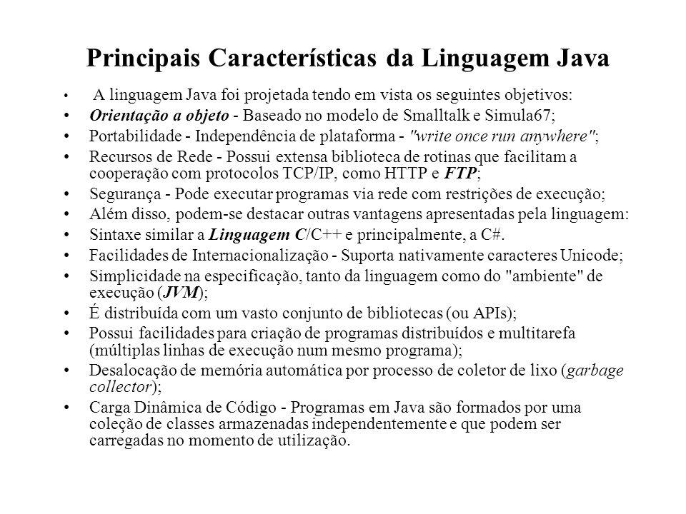 Principais Características da Linguagem Java