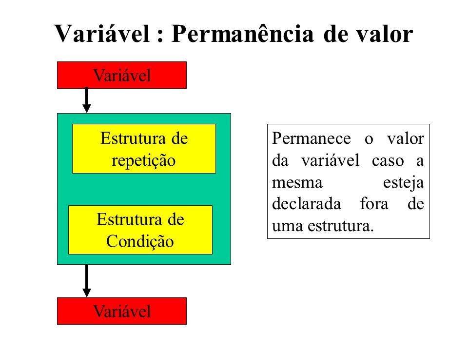 Variável : Permanência de valor