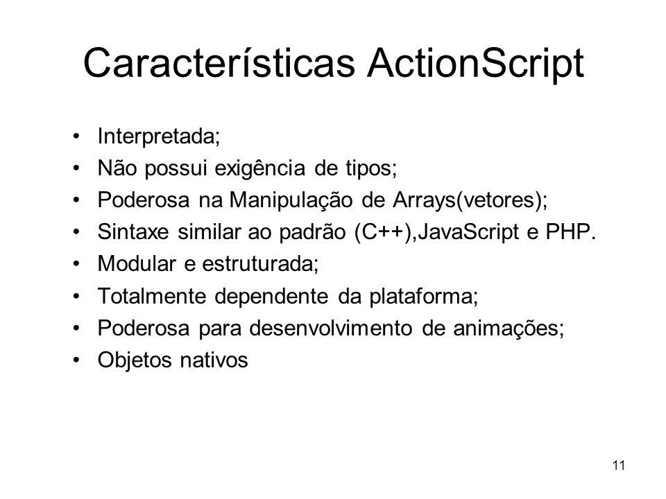 Características ActionScript