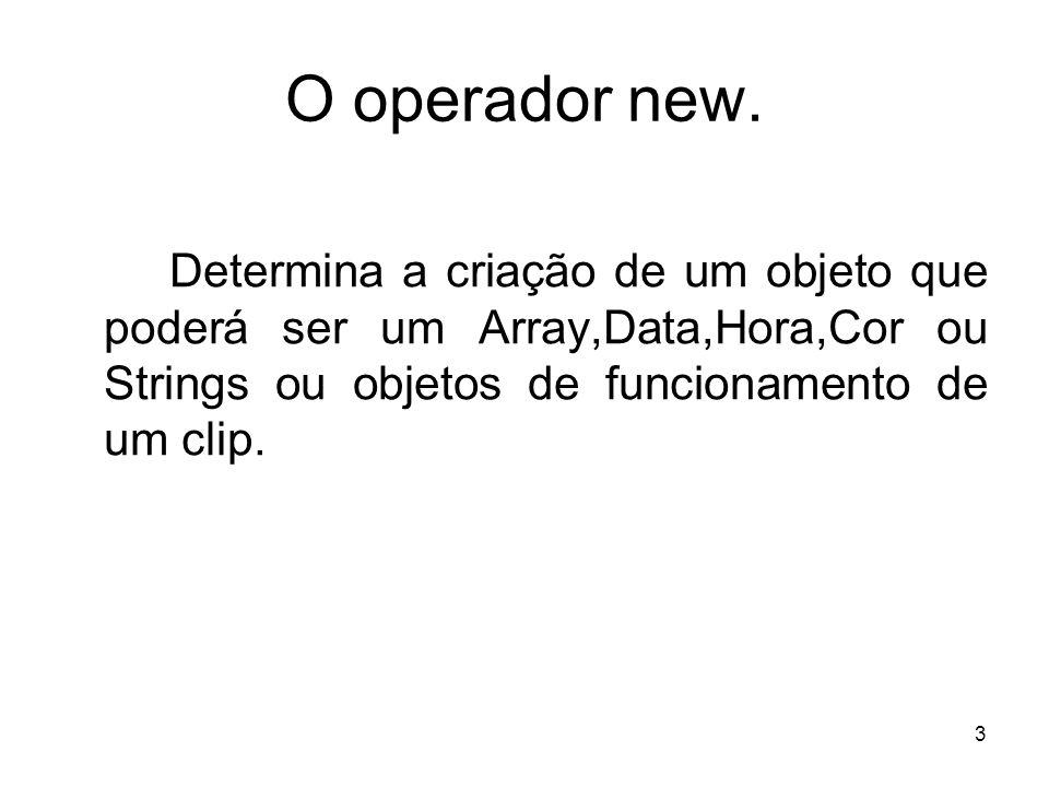 O operador new.
