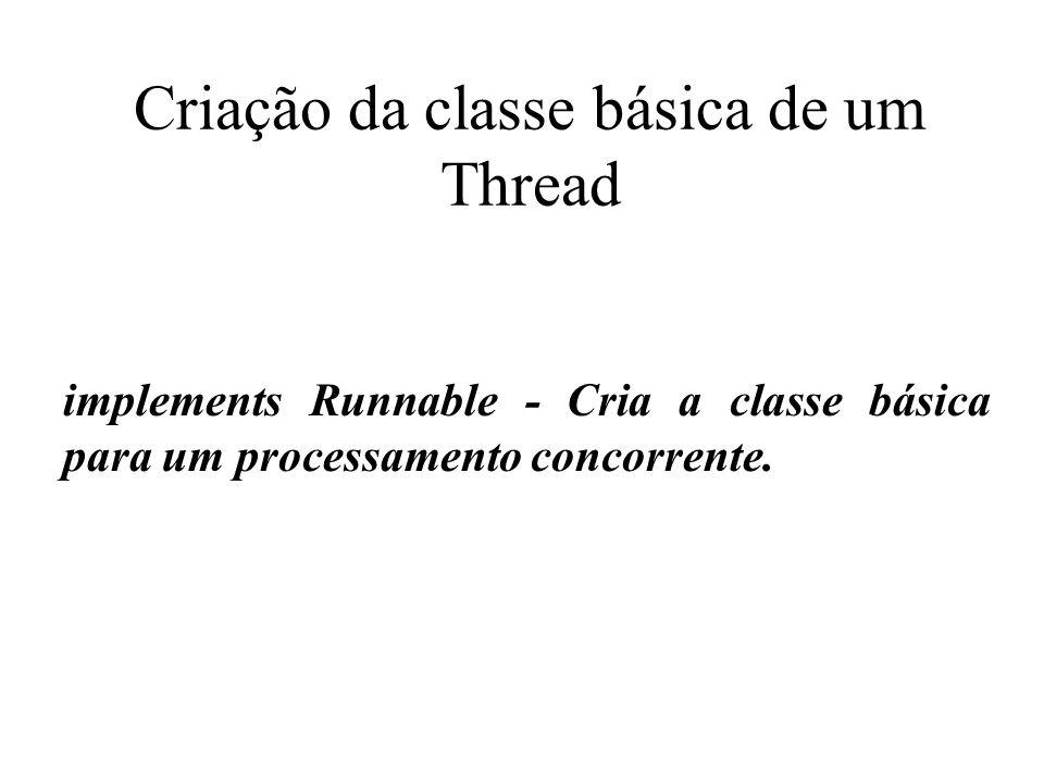 Criação da classe básica de um Thread