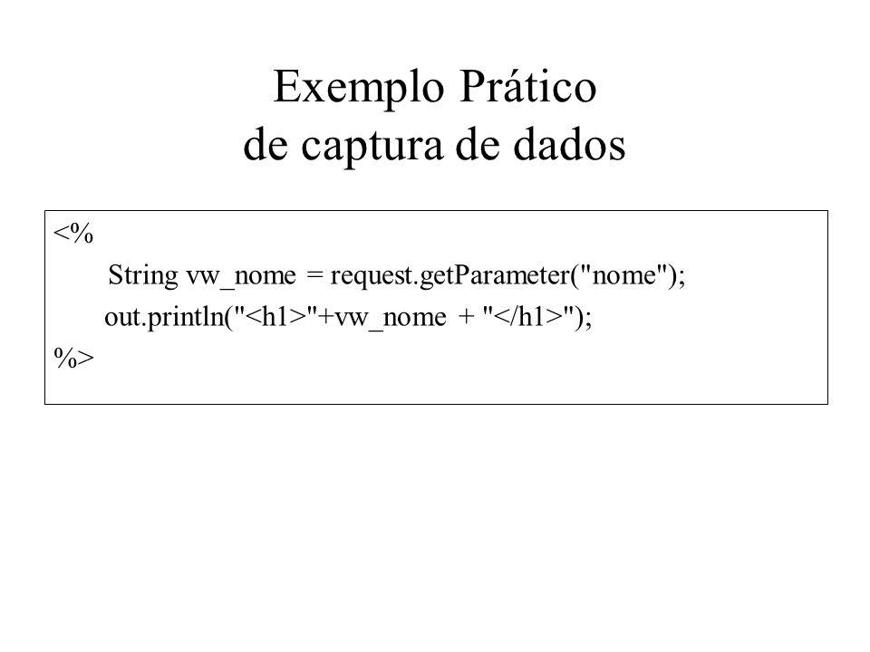 Exemplo Prático de captura de dados