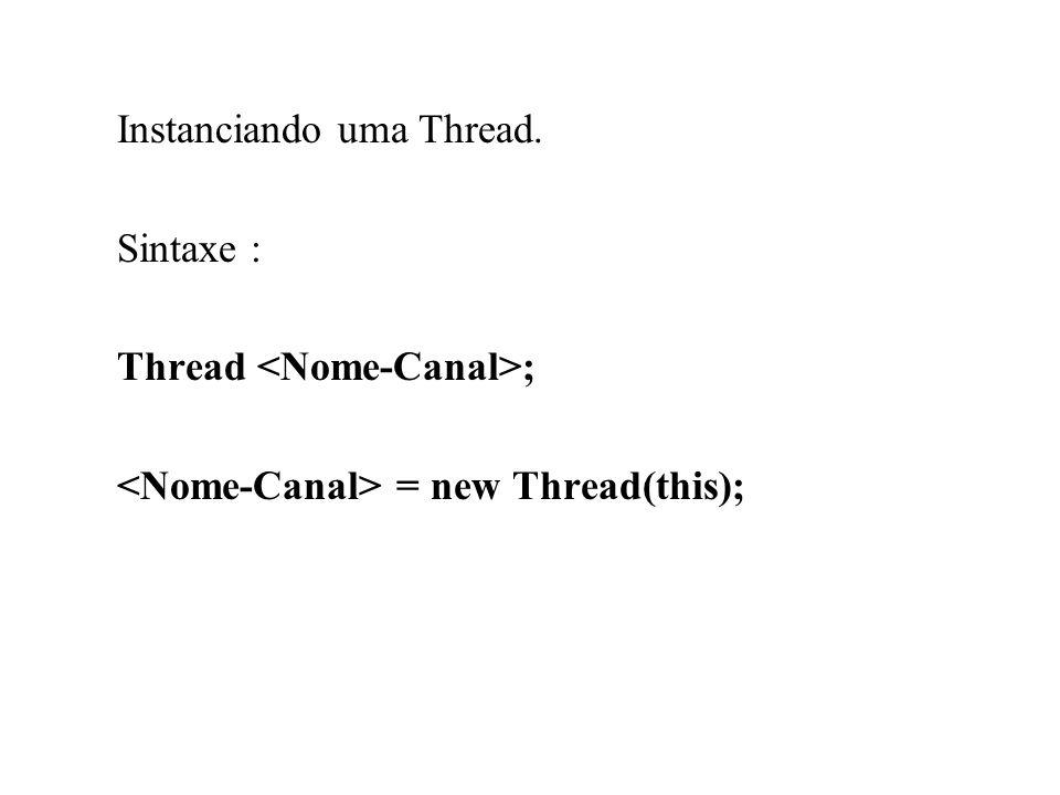 Instanciando uma Thread.
