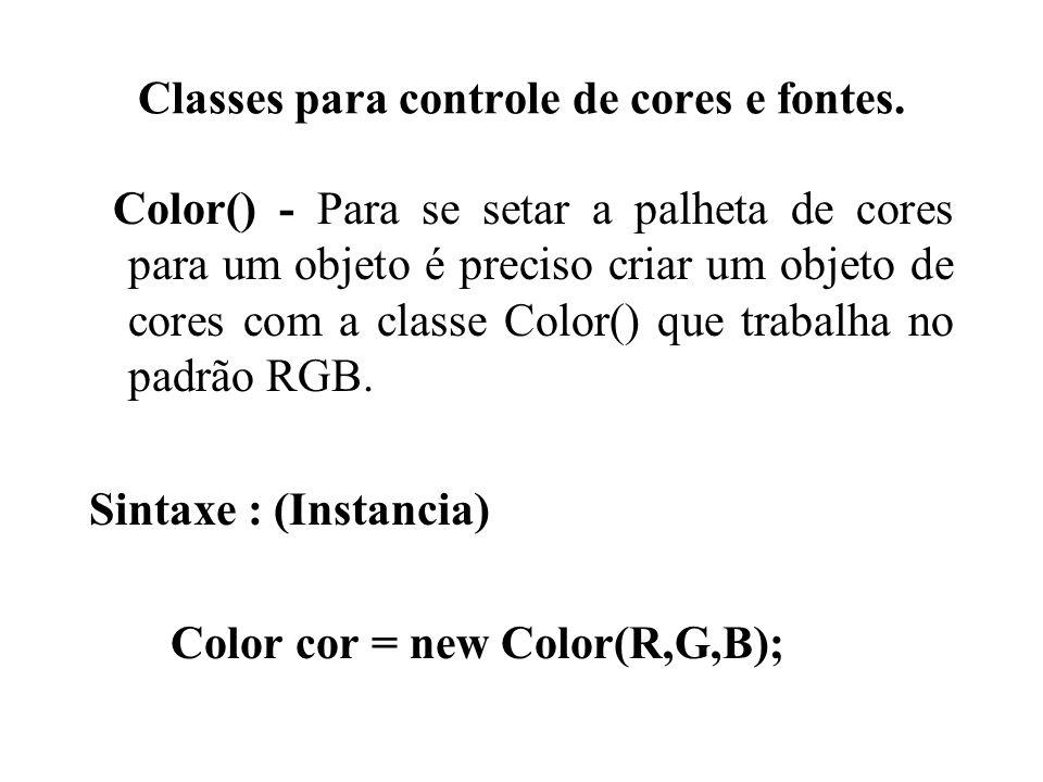 Classes para controle de cores e fontes.
