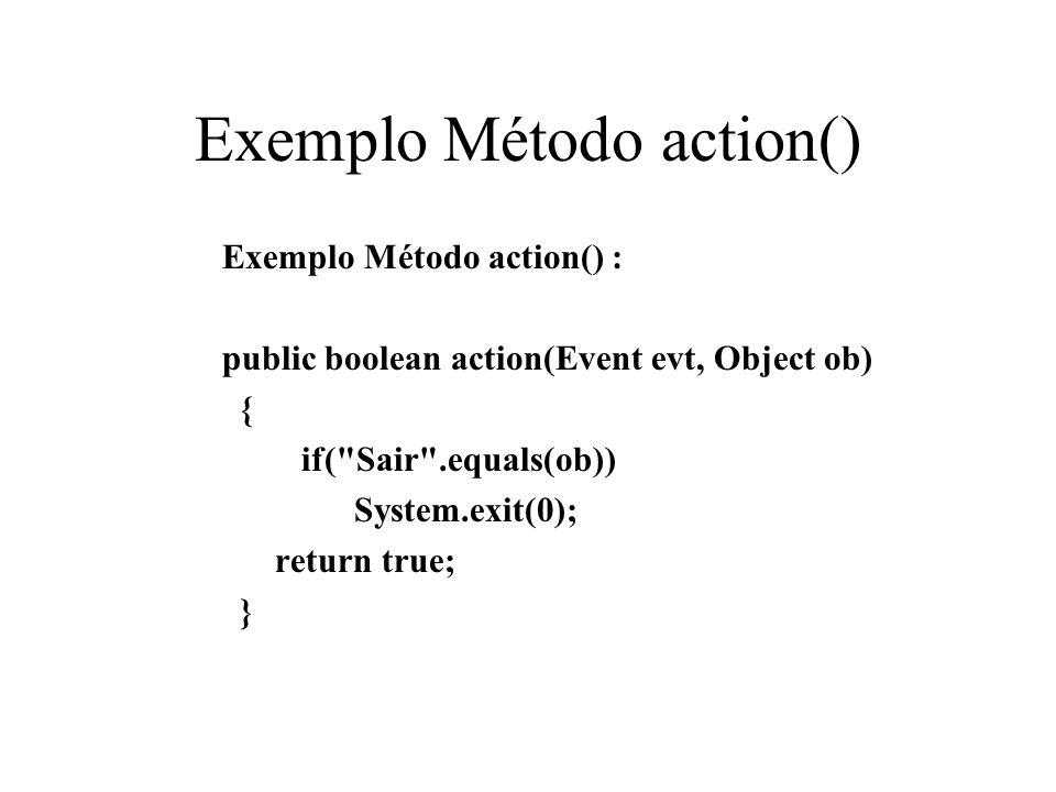 Exemplo Método action()