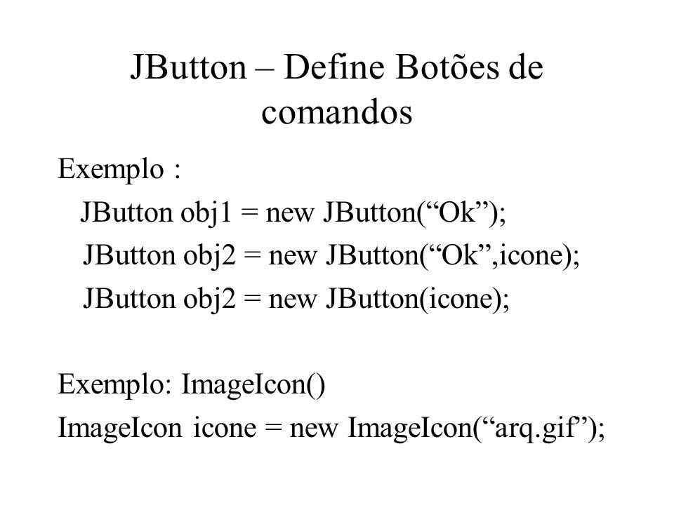 JButton – Define Botões de comandos
