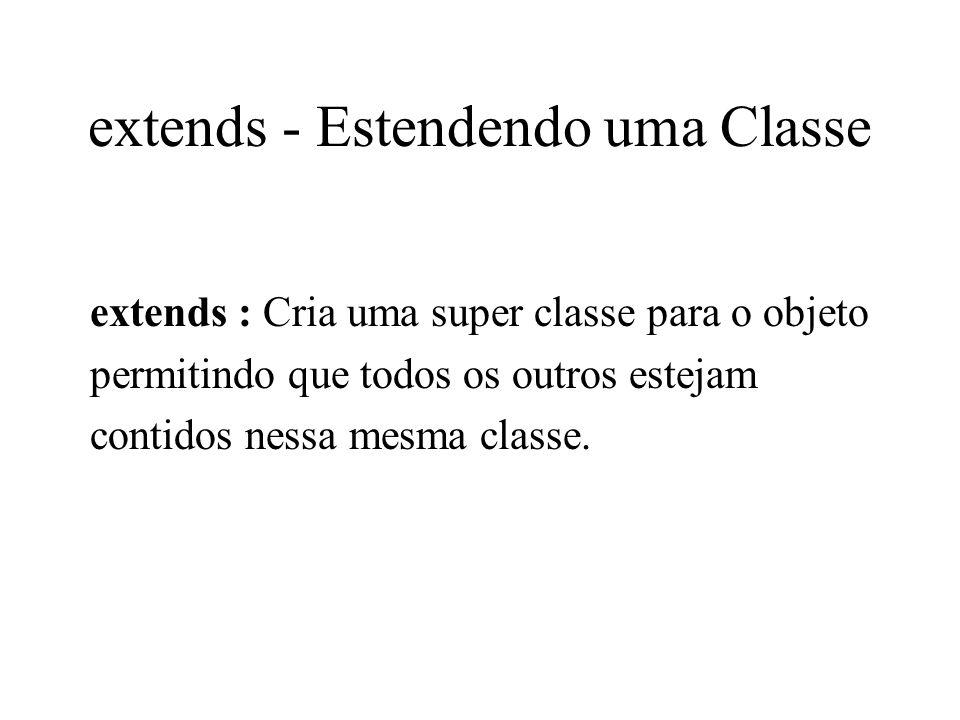 extends - Estendendo uma Classe
