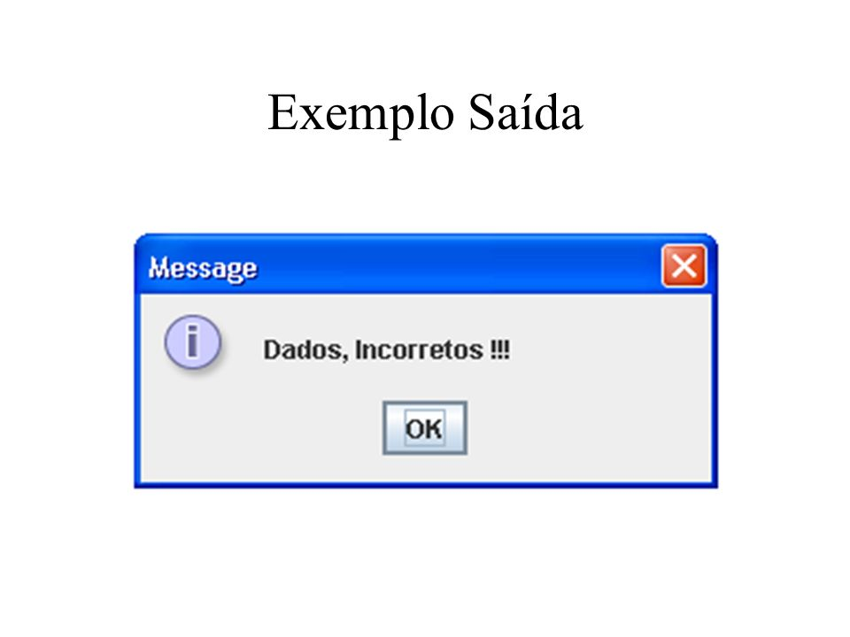 Exemplo Saída