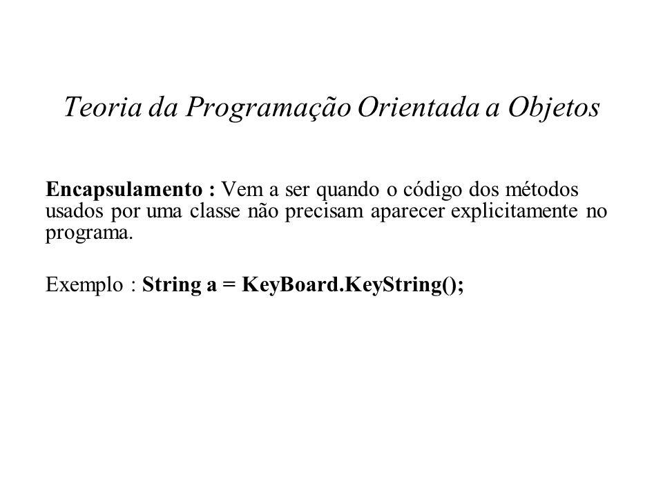 Teoria da Programação Orientada a Objetos