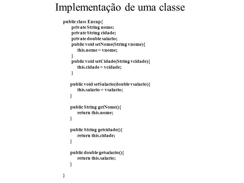 Implementação de uma classe