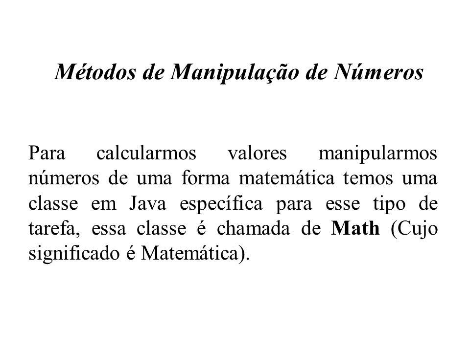 Métodos de Manipulação de Números