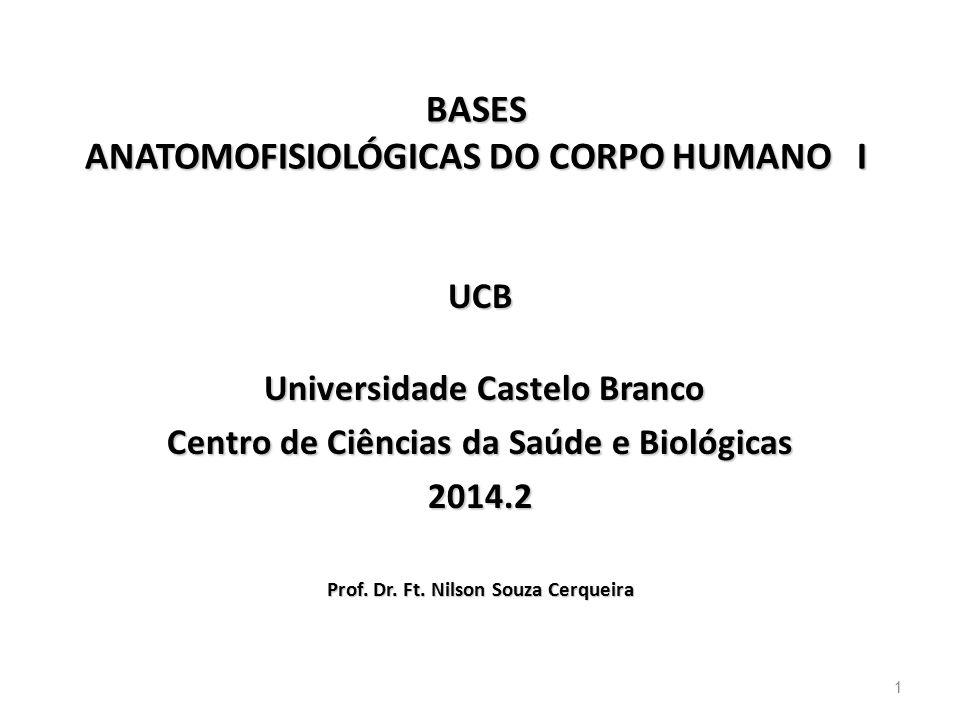 BASES ANATOMOFISIOLÓGICAS DO CORPO HUMANO I