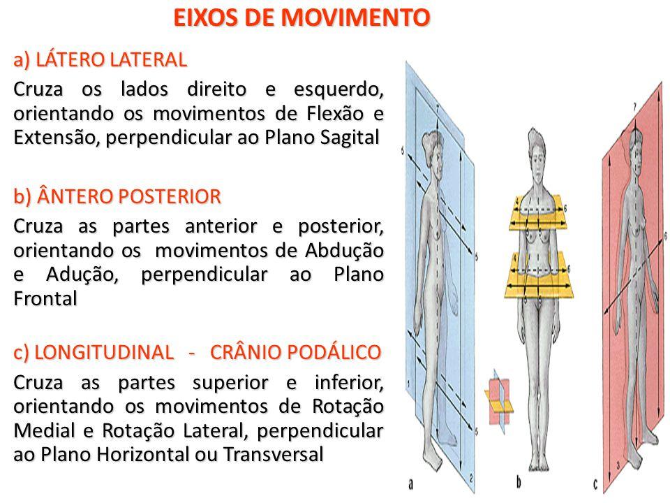EIXOS DE MOVIMENTO a) LÁTERO LATERAL