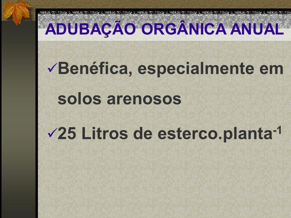 ADUBAÇÃO ORGÂNICA ANUAL