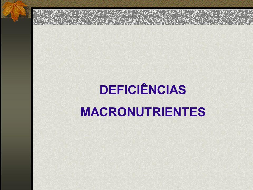DEFICIÊNCIAS MACRONUTRIENTES