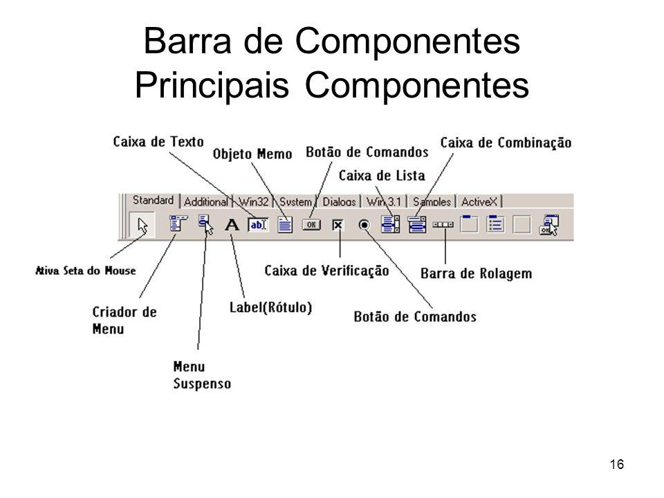 Barra de Componentes Principais Componentes