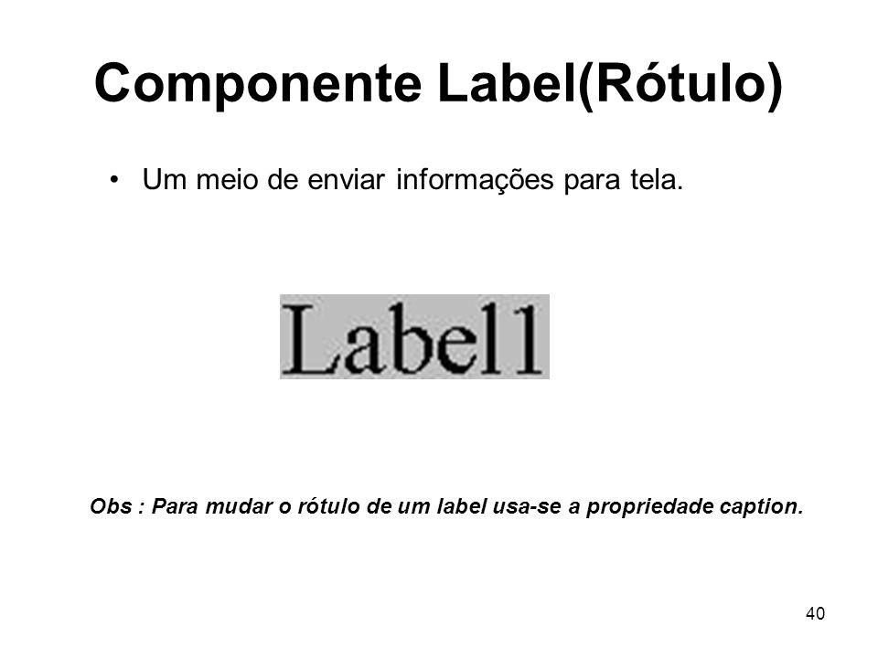 Componente Label(Rótulo)