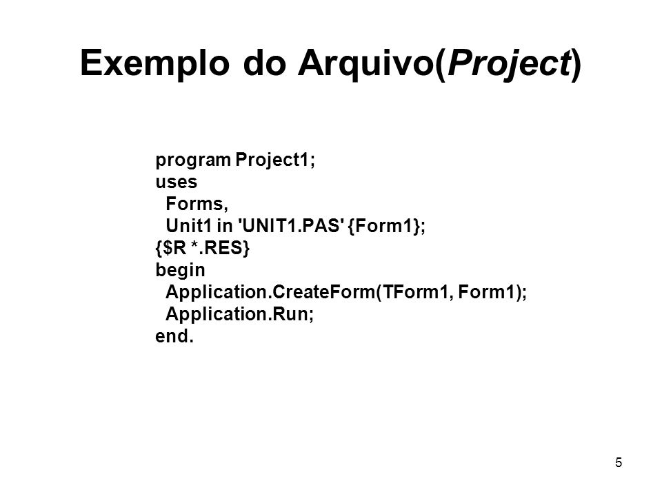 Exemplo do Arquivo(Project)