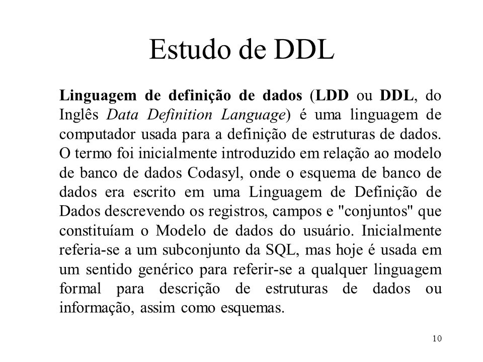 Estudo de DDL