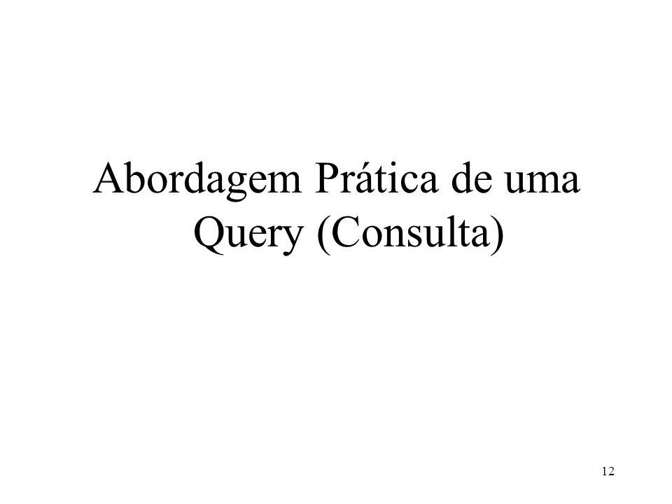 Abordagem Prática de uma Query (Consulta)
