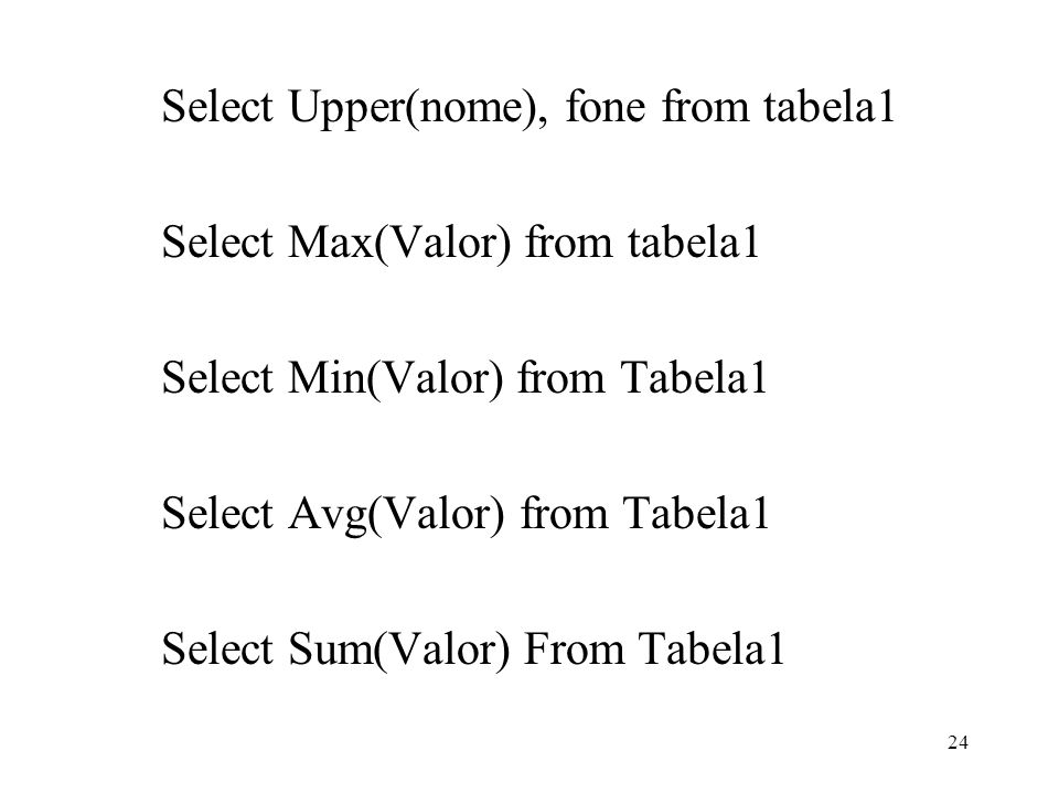 Select Upper(nome), fone from tabela1