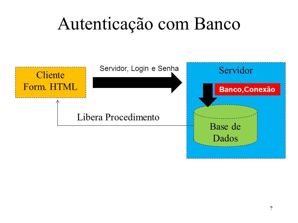 Autenticação com Banco