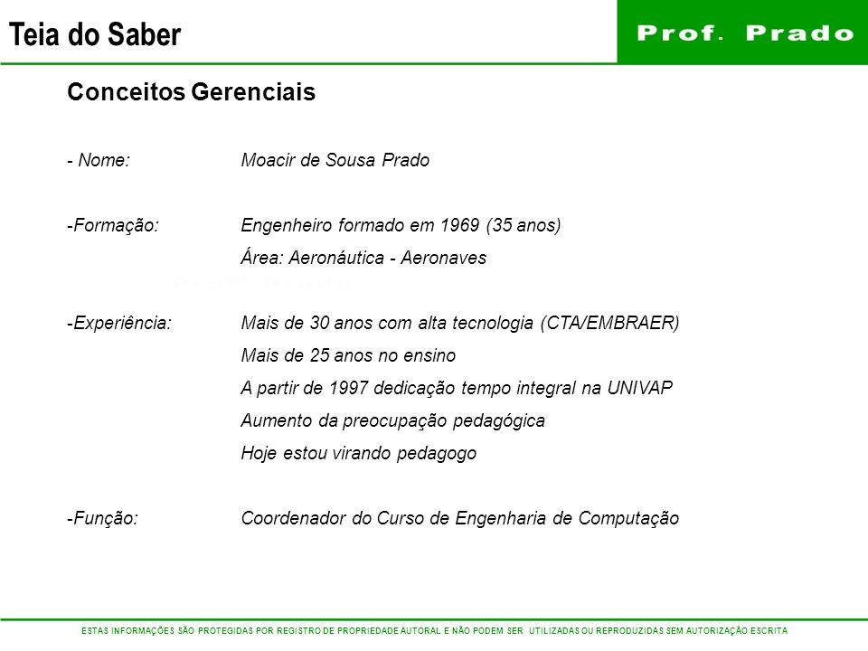Conceitos Gerenciais Nome: Moacir de Sousa Prado