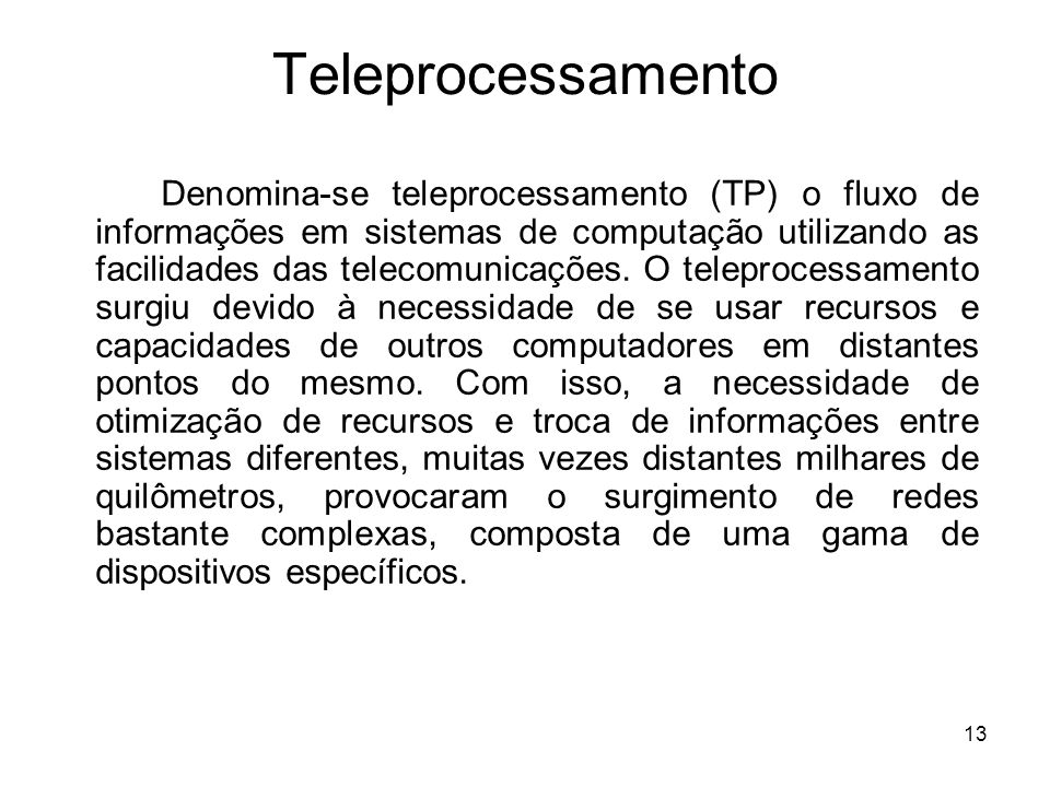 Teleprocessamento