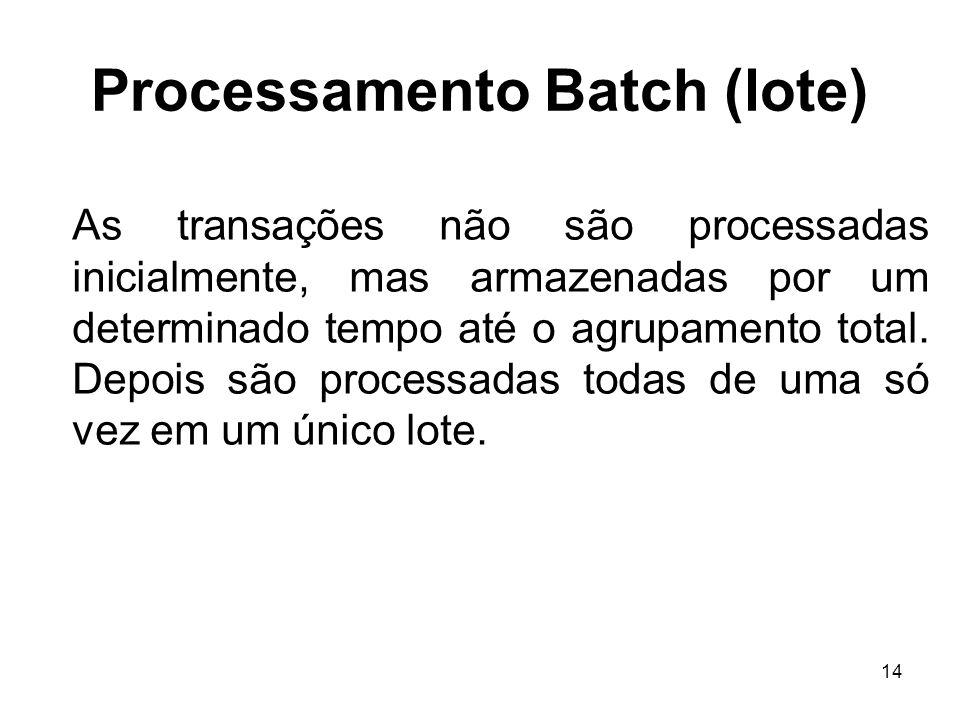 Processamento Batch (lote)