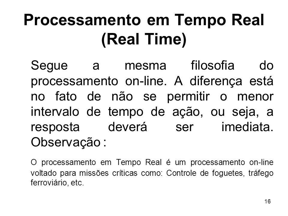 Processamento em Tempo Real (Real Time)