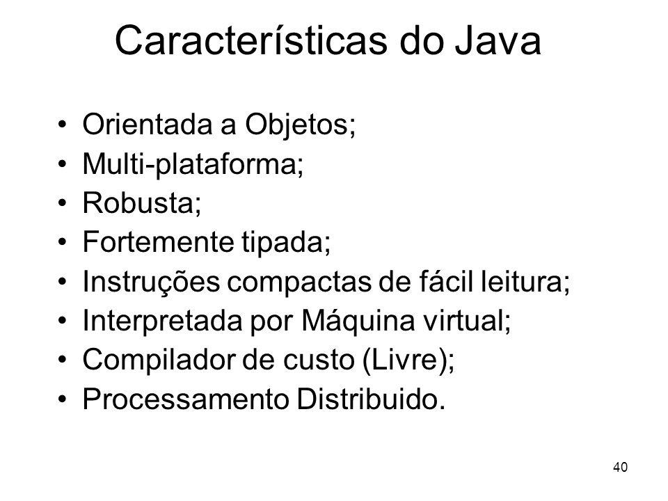 Características do Java