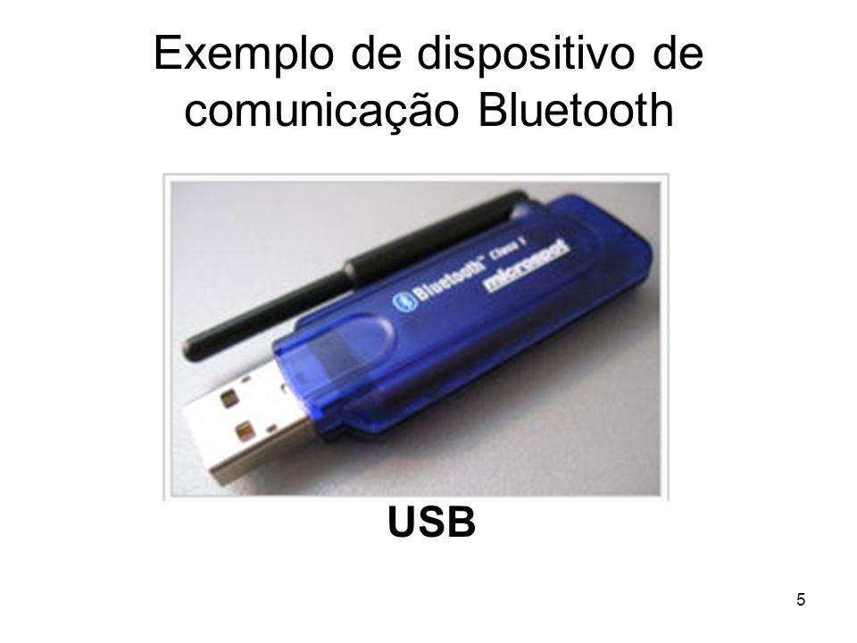 Exemplo de dispositivo de comunicação Bluetooth