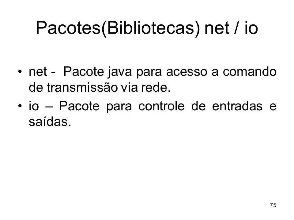 Pacotes(Bibliotecas) net / io