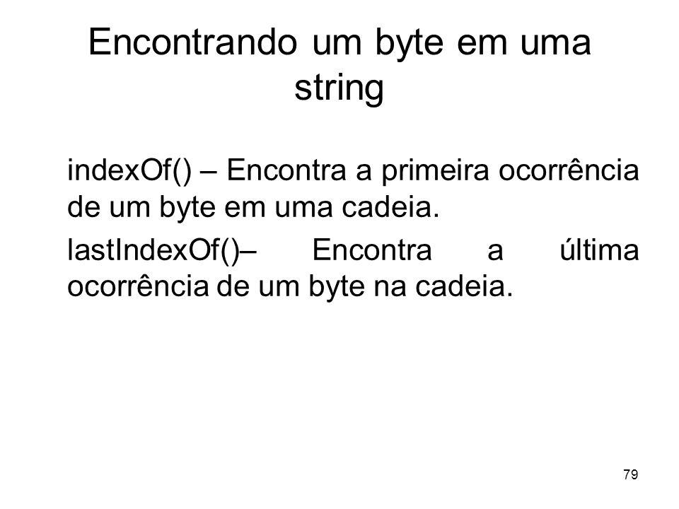 Encontrando um byte em uma string
