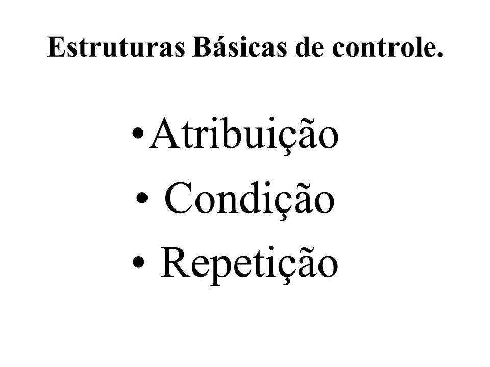 Estruturas Básicas de controle.