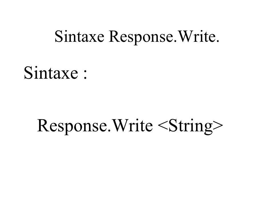 Sintaxe Response.Write.