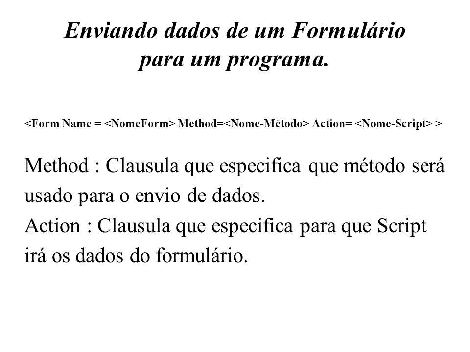 Enviando dados de um Formulário para um programa.