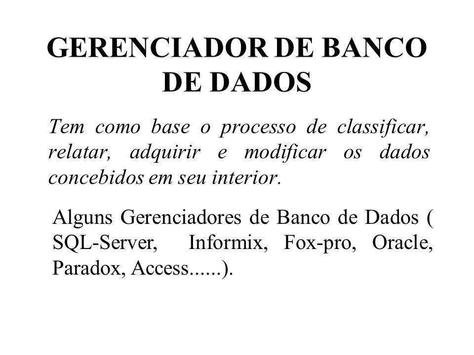 GERENCIADOR DE BANCO DE DADOS