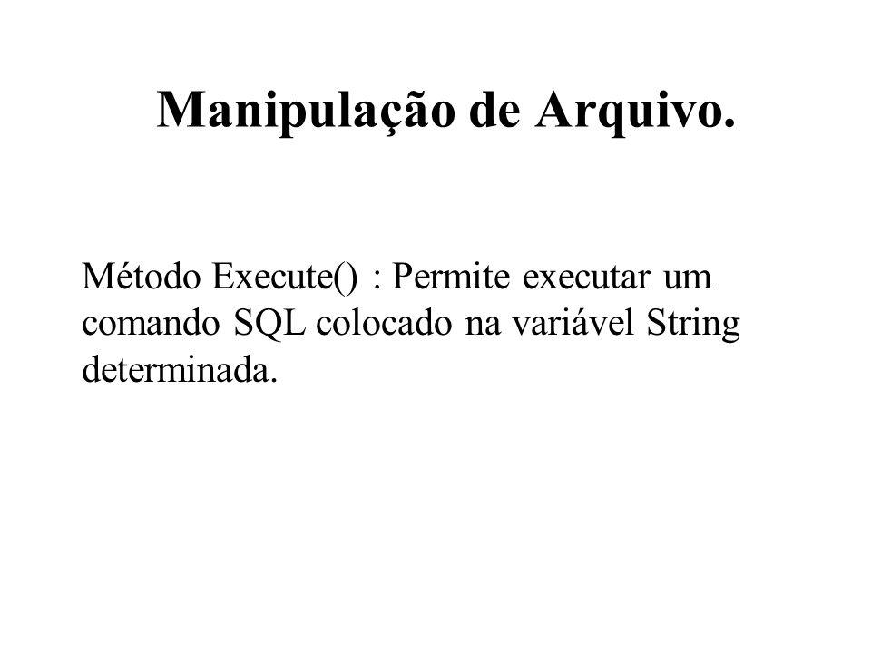 Manipulação de Arquivo.
