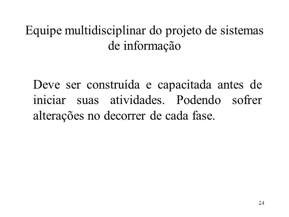 Equipe multidisciplinar do projeto de sistemas de informação