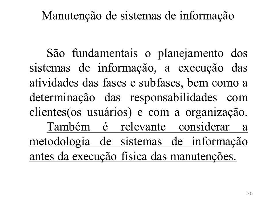Manutenção de sistemas de informação