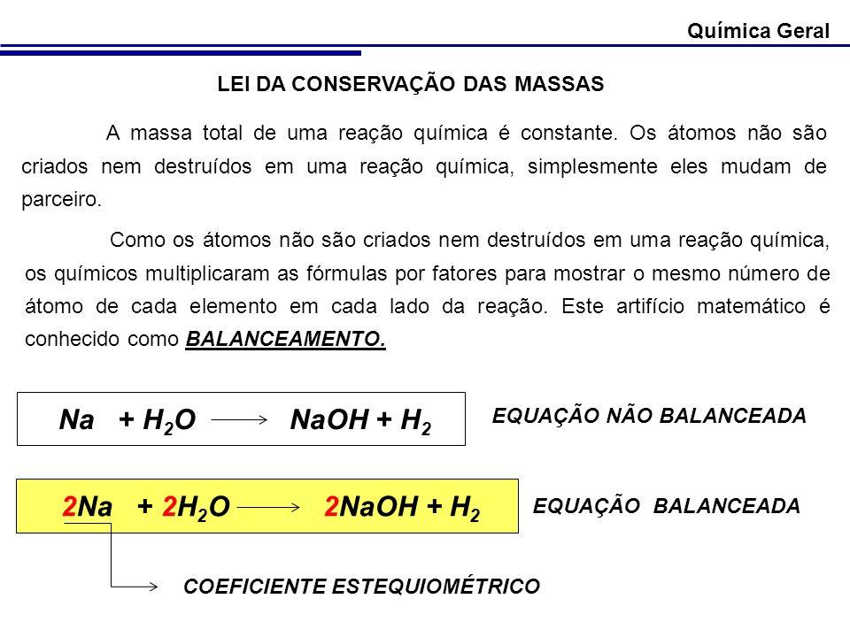 Na + H2O NaOH + H2 2Na + 2H2O 2NaOH + H2