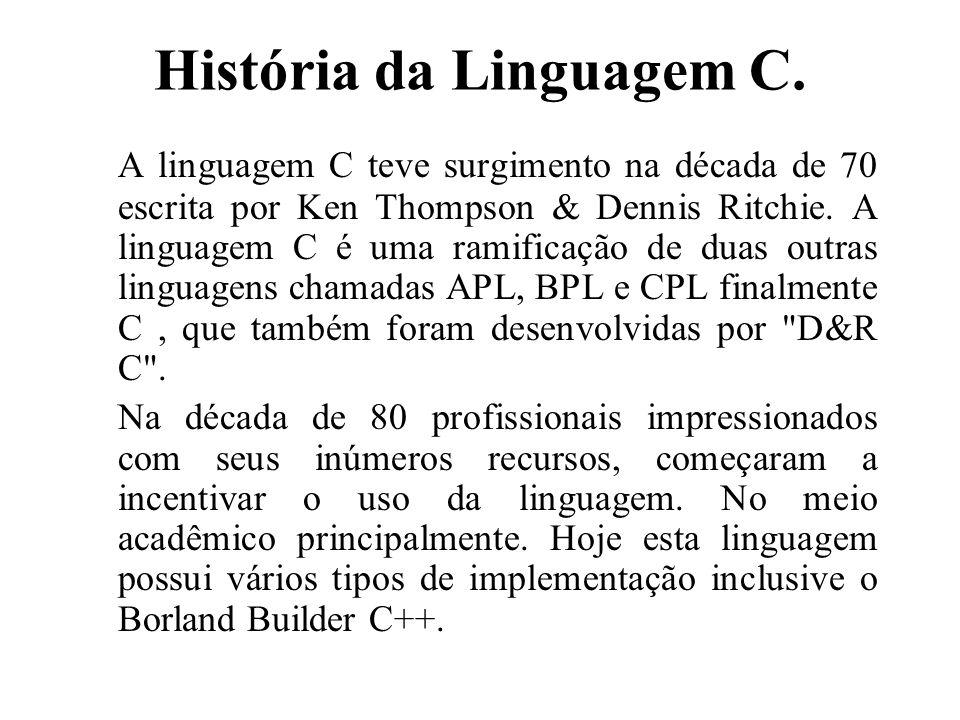História da Linguagem C.