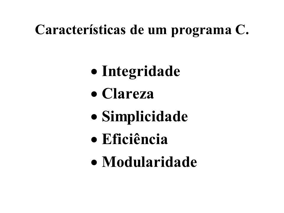 Características de um programa C.