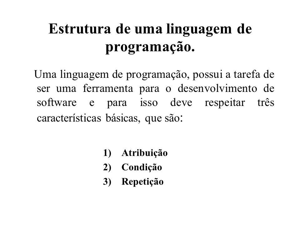 Estrutura de uma linguagem de programação.