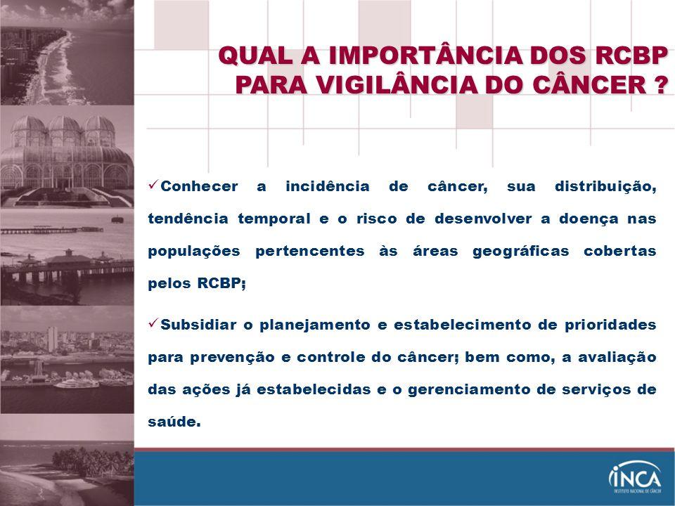 QUAL A IMPORTÂNCIA DOS RCBP PARA VIGILÂNCIA DO CÂNCER