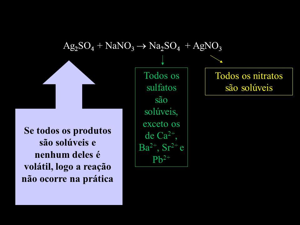Todos os sulfatos são solúveis, exceto os de Ca2+, Ba2+, Sr2+ e Pb2+
