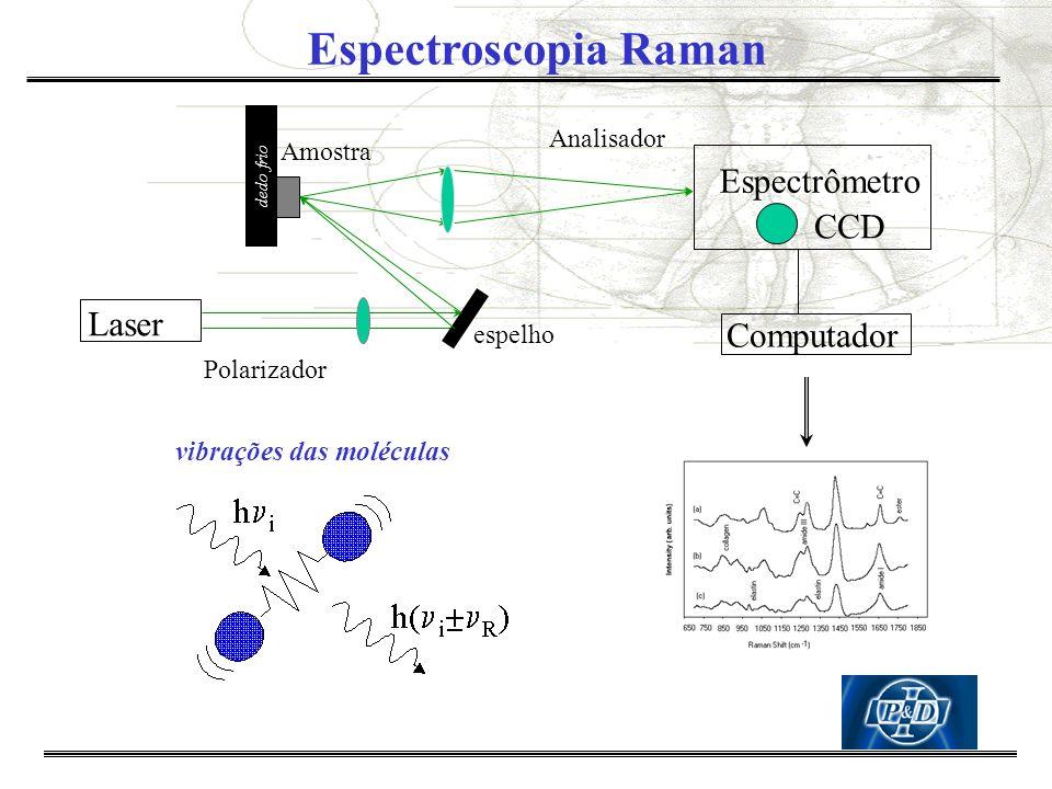 Espectroscopia Raman Espectrômetro CCD Laser Computador